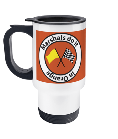 Marshals do it in Orange travel mug