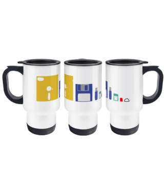 IT Storage Evolution Travel Mug