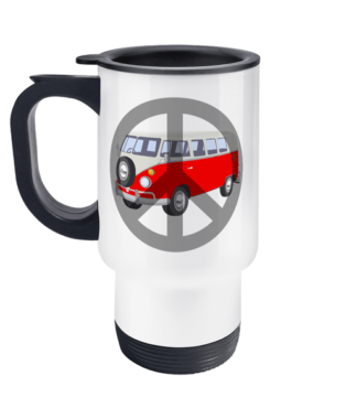 VW Campervan Peace Travel Mug