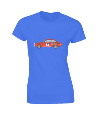 Ford Escort MK2 Cossack T-Shirt in Blue