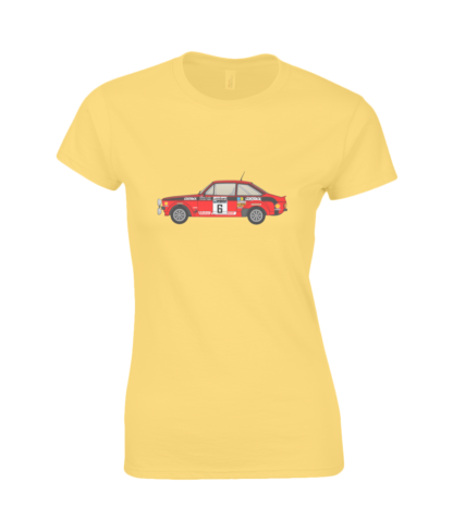 Ford Escort MK2 Cossack T-Shirt in Yellow