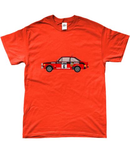 Ford Escort MK2 Cossack T-Shirt in Orange