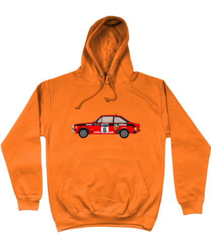 Ford Escort MK2 Cossack Hoodie in Orange