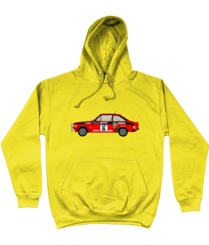 Ford Escort MK2 Cossack Hoodie in Yellow