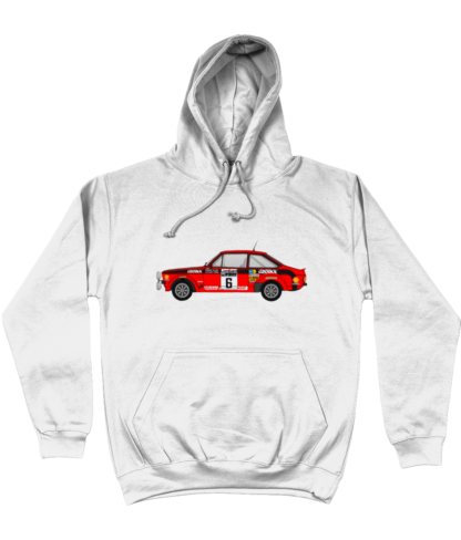 Ford Escort MK2 Cossack Hoodie in White