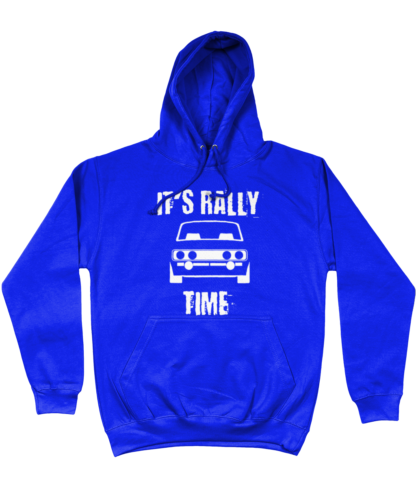 It's Rally Time Hoodie in Blue
