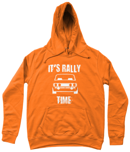 It's Rally Time Hoodie in Orange