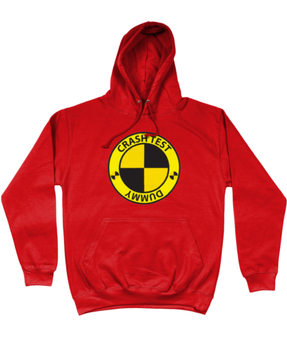 Crash Test Dummy Hoodie in Red