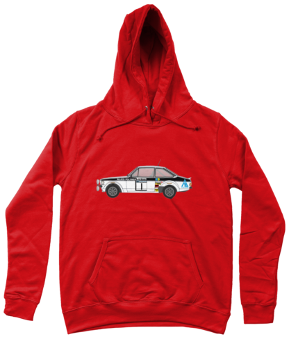 Ford Escort MK2 Allied Polymer Hoodie in Red