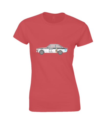 Ford Escort MK2 Allied Polymer T-Shirt in Red