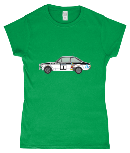 Ford Escort MK2 Allied Polymer T-Shirt in Green