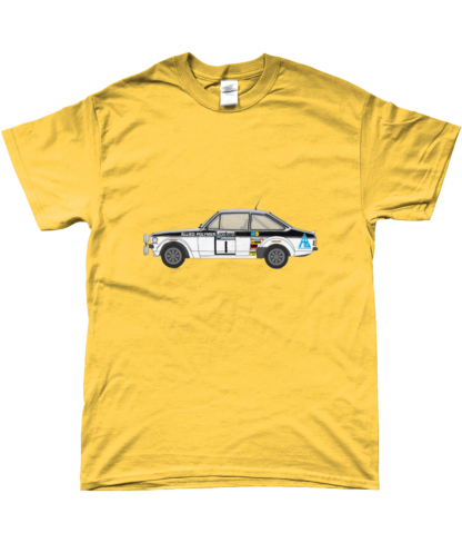 Ford Escort MK2 Allied Polymer T-Shirt in Yellow