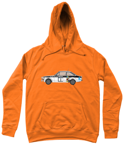 Ford Escort MK2 Allied Polymer Hoodie in Orange