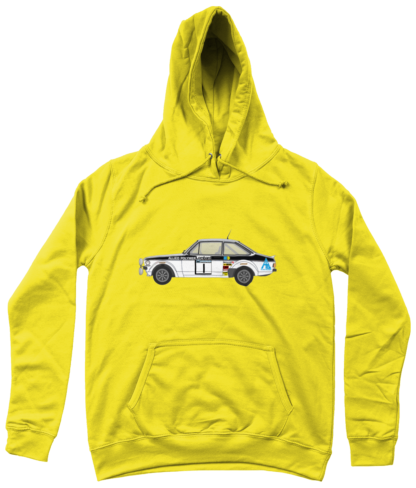 Ford Escort MK2 Allied Polymer Hoodie in Yellow