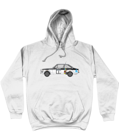 Ford Escort MK2 Allied Polymer Hoodie in White