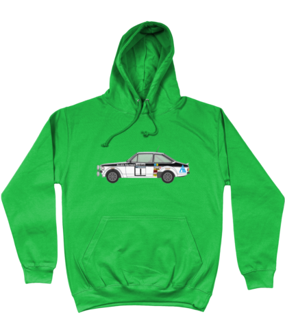 Ford Escort MK2 Allied Polymer Hoodie in Green