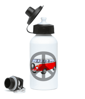 VW Campervan Peace Water Bottle