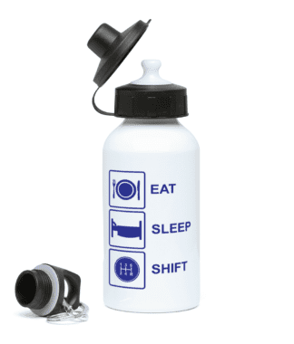 Eat Sleep Shift Water Bottle