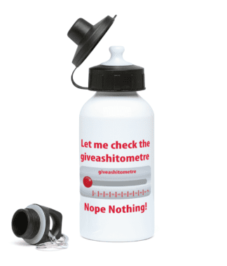 giveashitometre Water Bottle