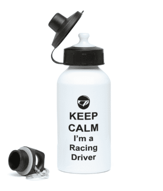 Keep Calm I'm a Racing Driver Water Bottle