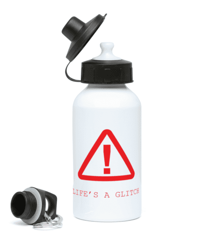 Life's a Glitch Water Bottle