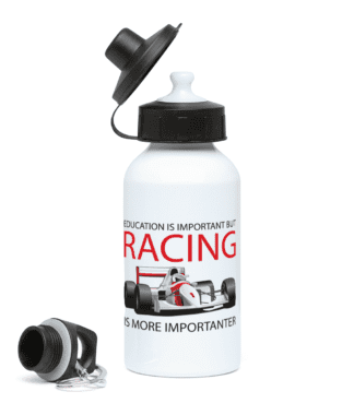 Racing is Importanter Water Bottle