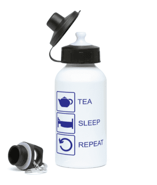 Tea Sleep Repeat Water Bottle