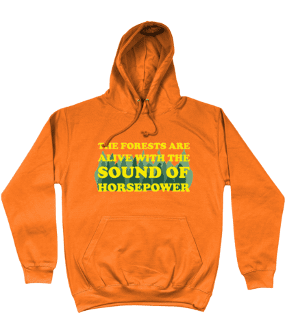 Forests are Alive Hoodie in Orange