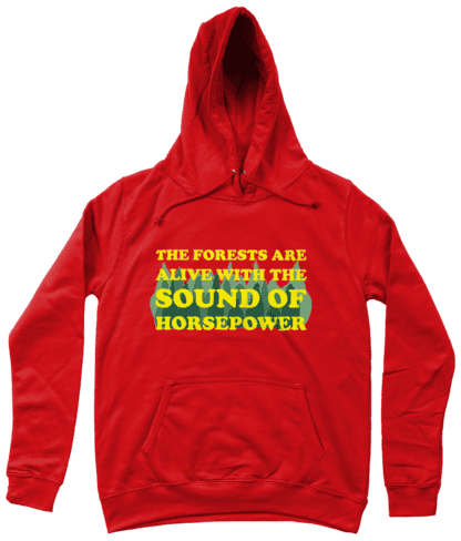 Forests are Alive Hoodie in Red