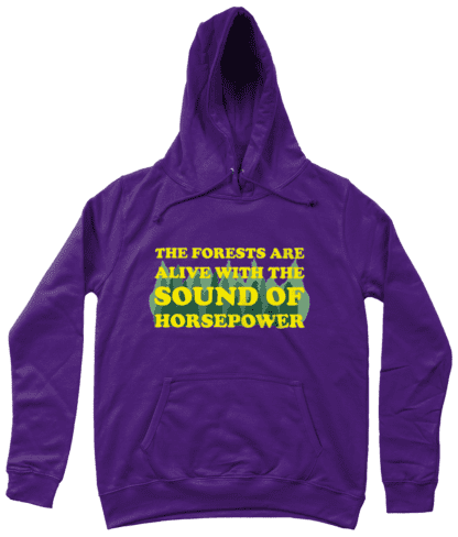 Forests are Alive Hoodie in Purple