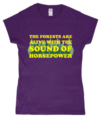 Forests are Alive T-Shirt in Purple