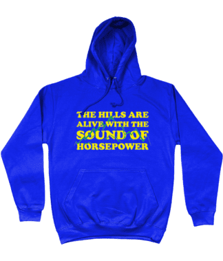 Hills are Alive Hoodie in Blue