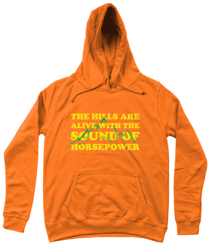 Hills are Alive Hoodie in Orange