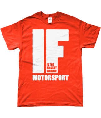 IF is the Biggest Word T-Shirt in Orange