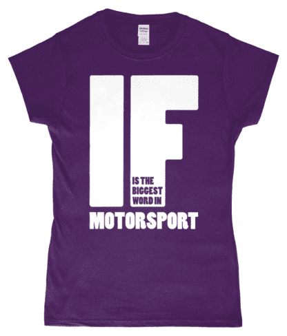 IF is the Biggest Word T-Shirt in Purple