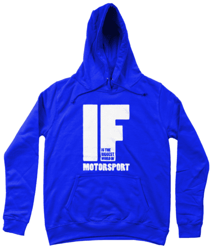 IF is the Biggest Word Hoodie in Blue
