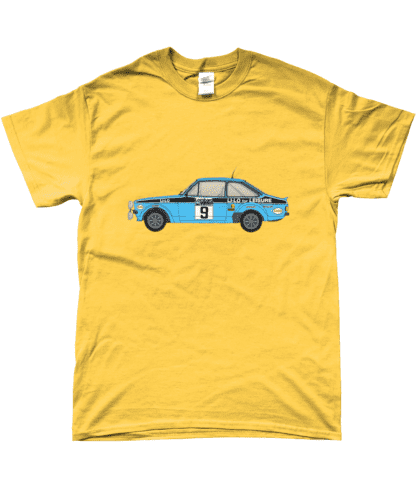 Ford Escort MK2 Li-Lo T-Shirt in Yellow