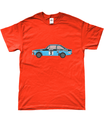Ford Escort MK2 Li-Lo T-Shirt in Orange