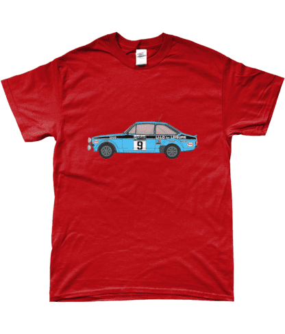 Ford Escort MK2 Li-Lo T-Shirt in Red