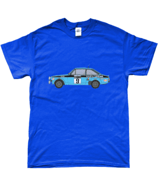 Ford Escort MK2 Li-Lo T-Shirt in Blue