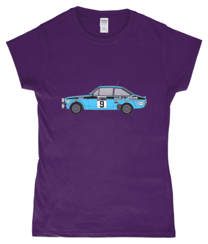 Ford Escort MK2 Li-Lo T-Shirt in Purple