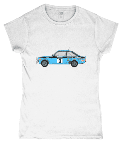 Ford Escort MK2 Li-Lo T-Shirt in White