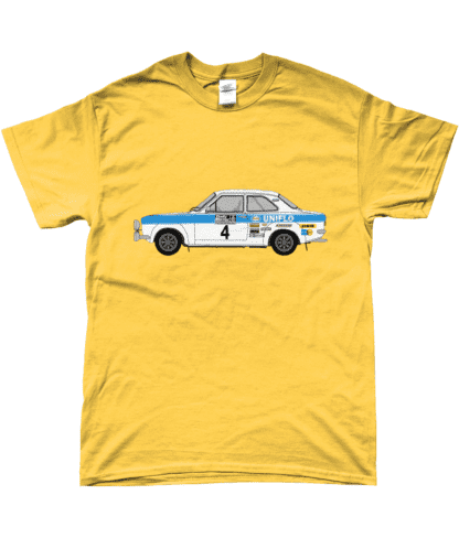 Ford Escort MK1 Uniflo T-Shirt in Yellow