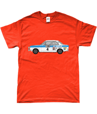 Ford Escort MK1 Uniflo T-Shirt in Orange