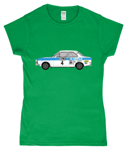 Ford Escort MK1 Uniflo T-Shirt in Green