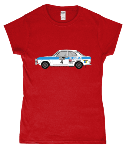 Ford Escort MK1 Uniflo T-Shirt in Red