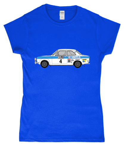 Ford Escort MK1 Uniflo T-Shirt in Blue