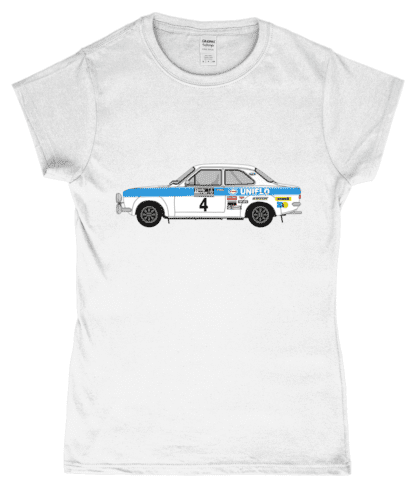 Ford Escort MK1 Uniflo T-Shirt in White