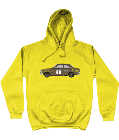 Ford Escort MK1 Colibri Hoodie in Yellow