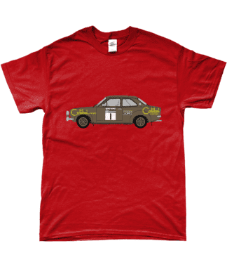 Ford Escort MK1 Colibri T-Shirt in Red